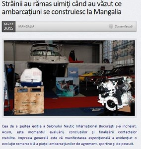 Mangalia_ Salonul Nautic International Bucuresti