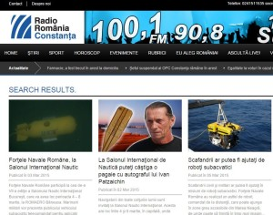 RADIO ROMANIA CONSTANTA_SALONUL NAUTIC INTERNATIONAL BUCURESTI 2015